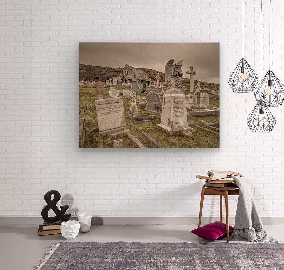 Cemetery in Llandudno, North Wales  Wood print