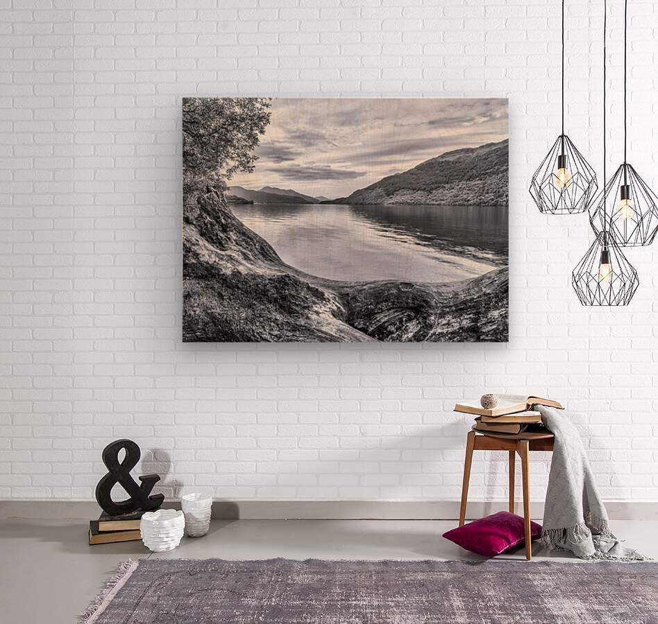 Scottish Loch  Wood print
