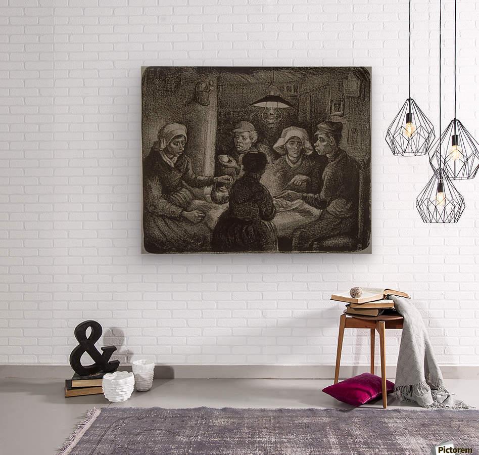 Potato Eaters by Van Gogh  Wood print