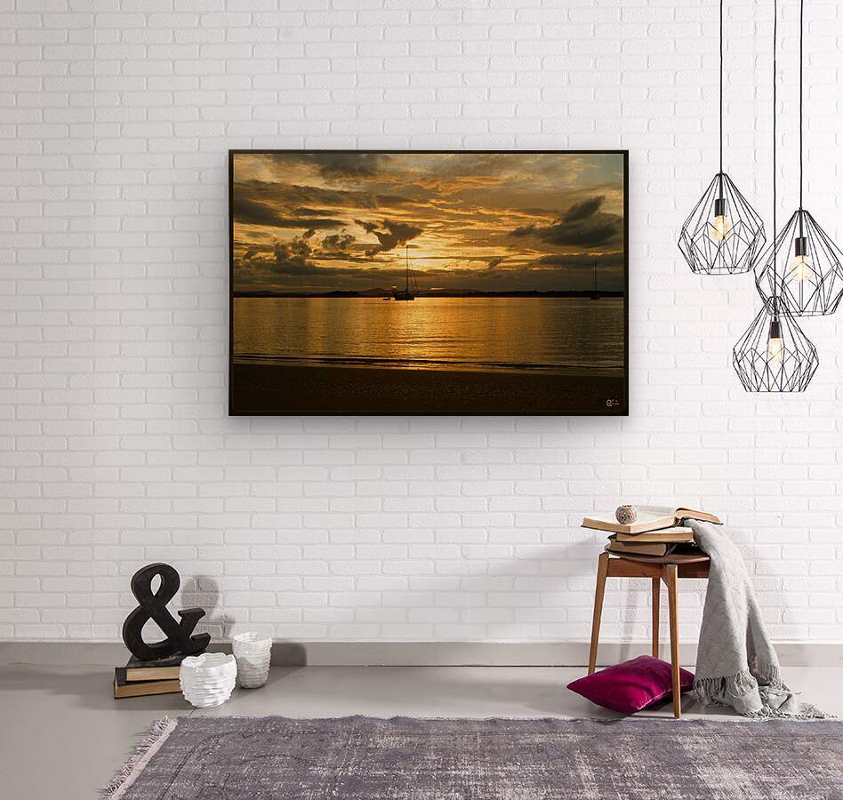 clarence river sunset  Wood print