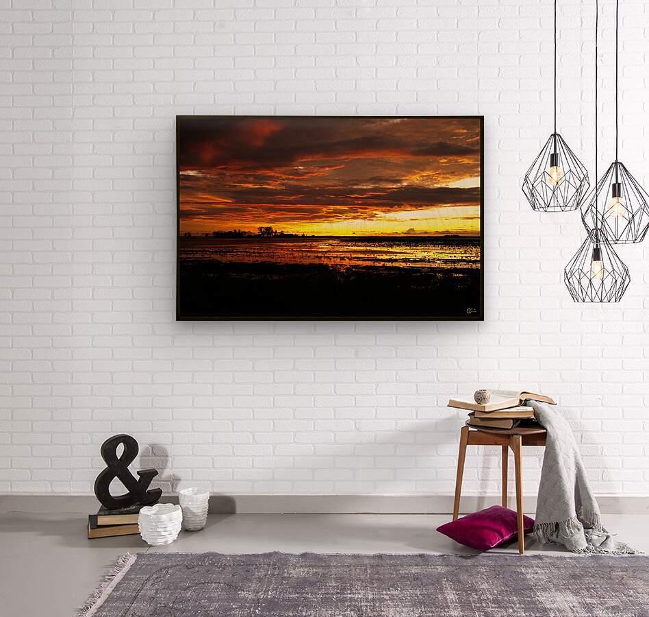 granite belt sunset  Wood print