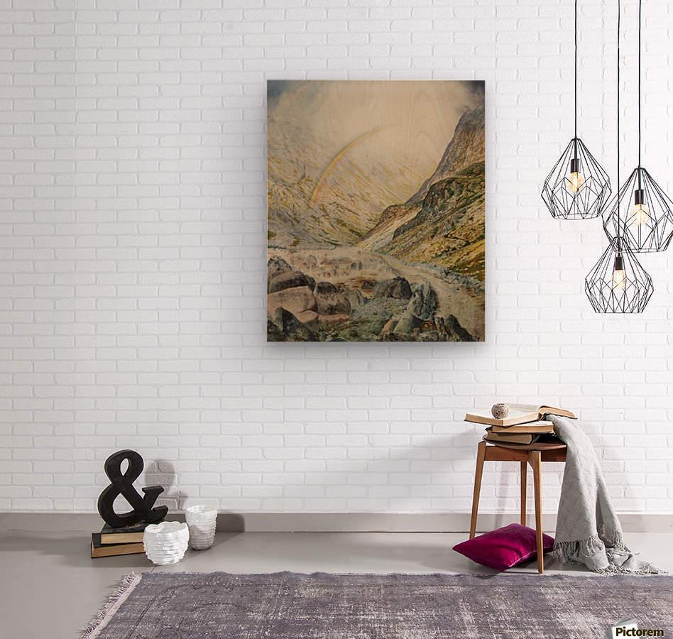 A mountain road, flood time  Wood print