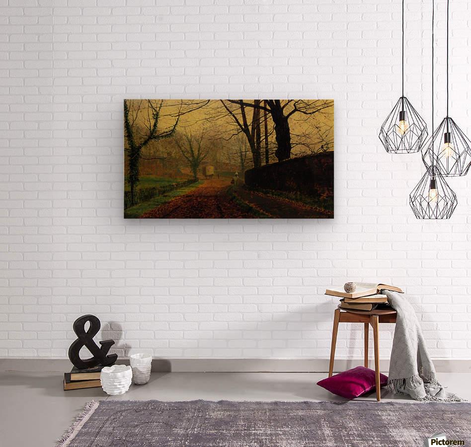 Autumn Sunshine Stapelton Park  Wood print