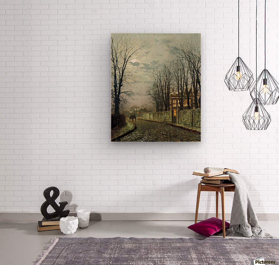 A Wintry Moon  Wood print