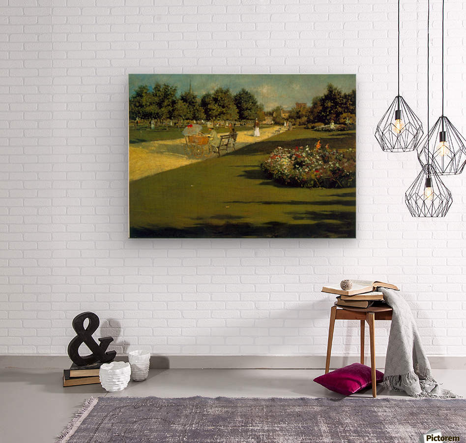 Prospect Park by Chase  Wood print