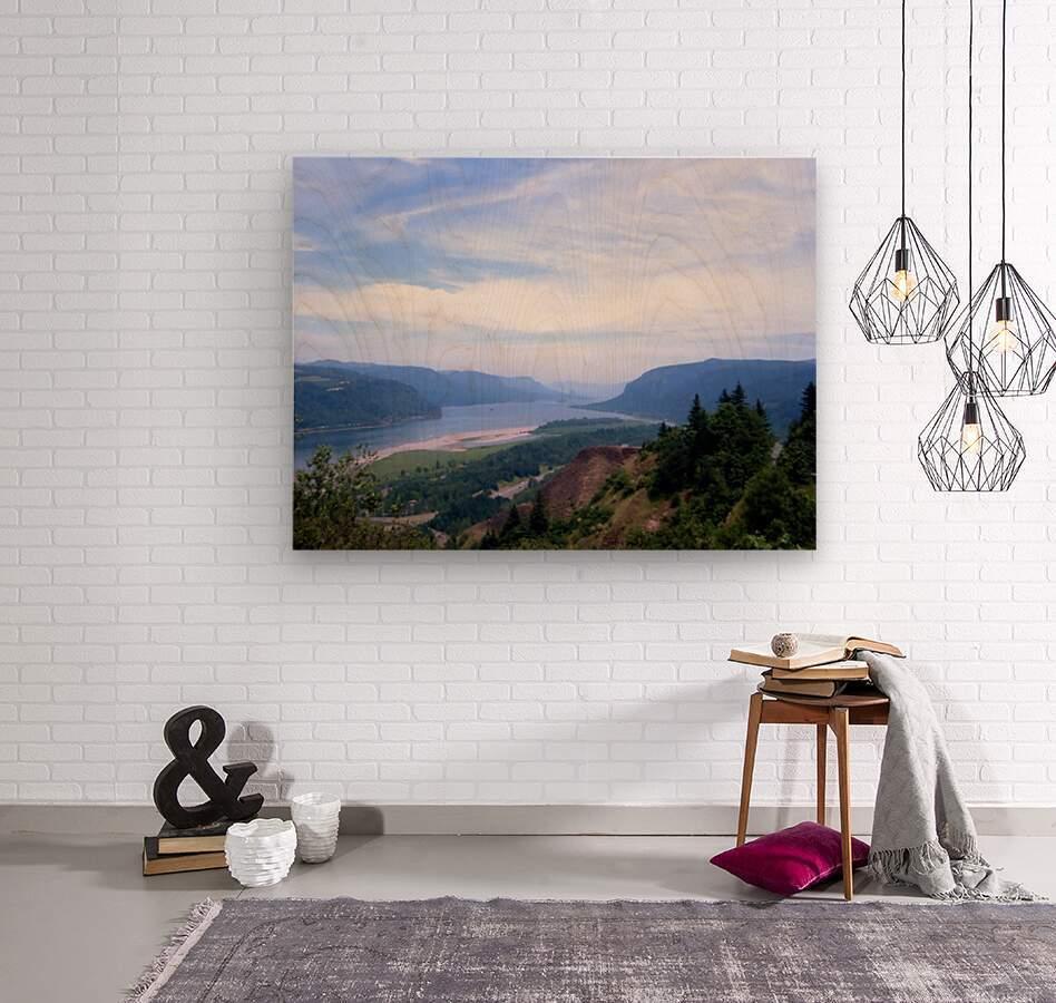 The Gorge   Columbia River  Wood print
