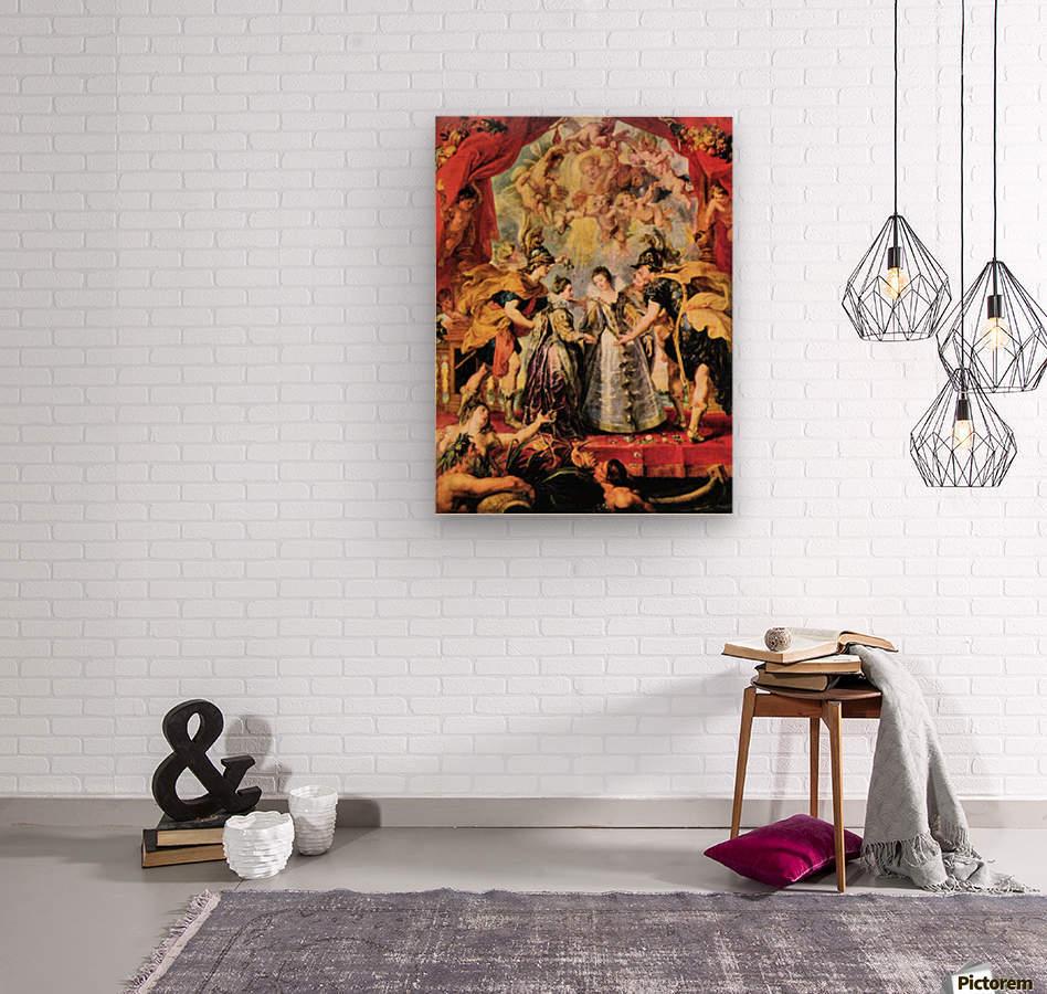 Replacing the Medici Princess by Rubens  Wood print