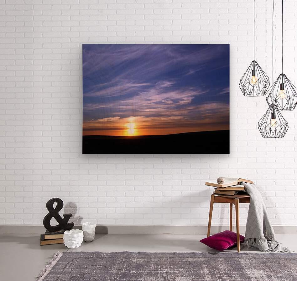 Montana   Sunset  Wood print