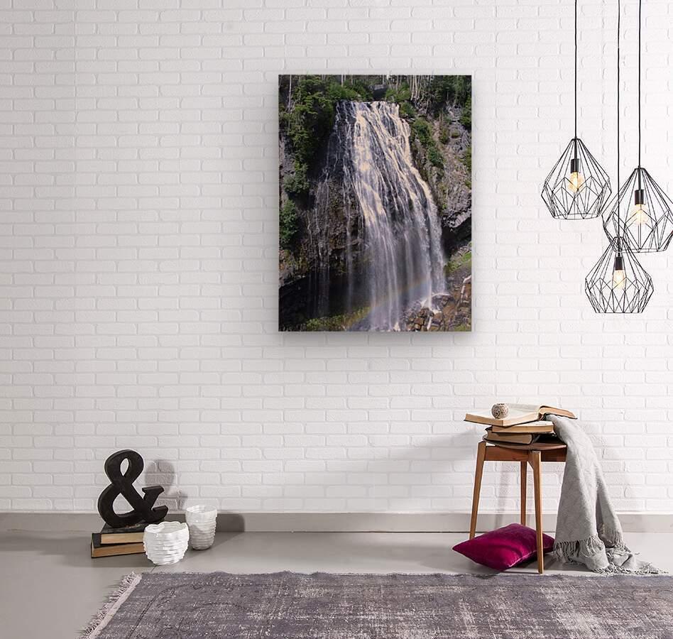 Narada Falls at Mount Rainier Pacific Northwest  Wood print