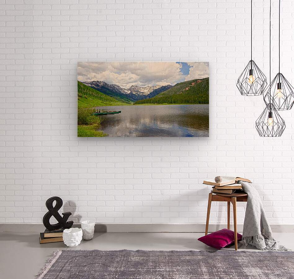 Rocky Mountain Reflections  Wood print