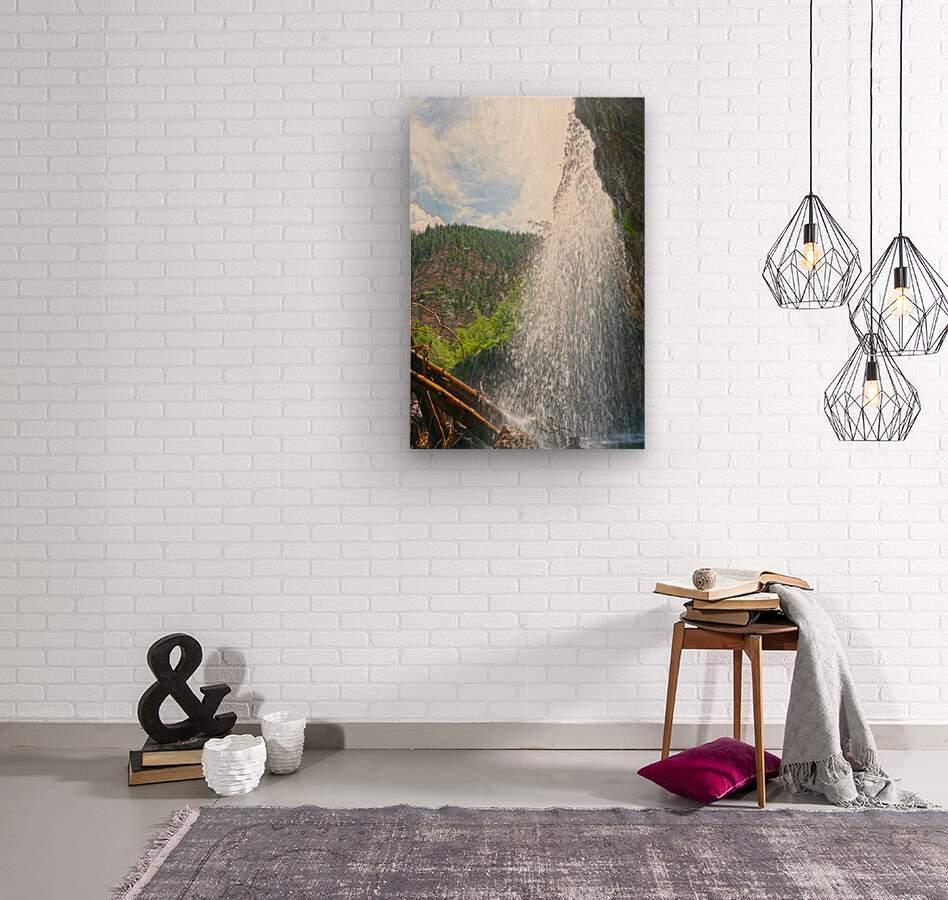 Inside the Waterfall  Wood print