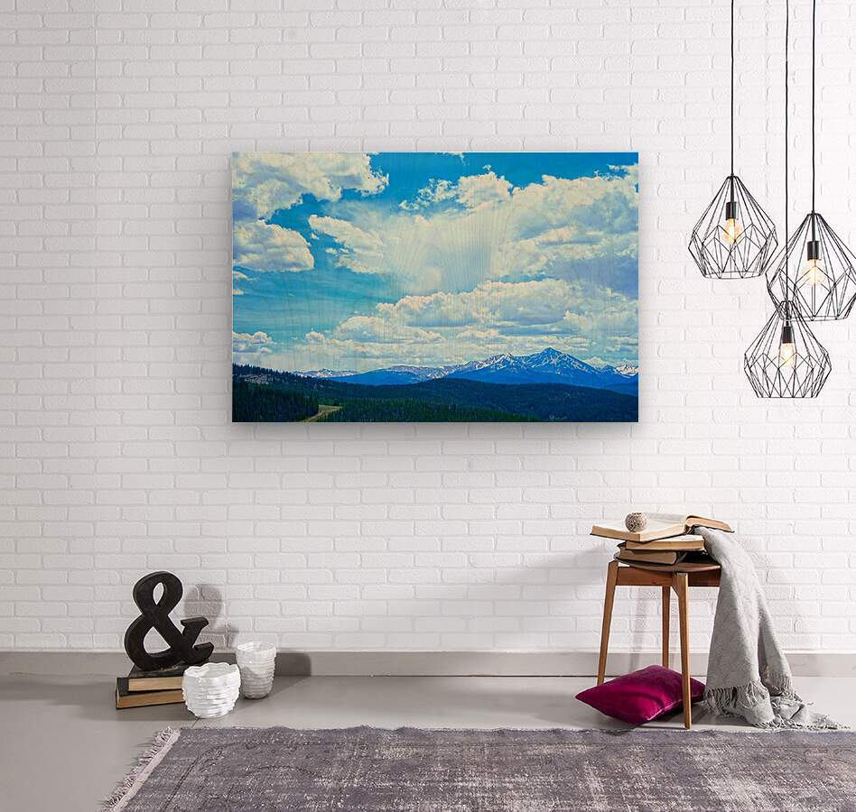 Painted Skies Over the Sawatch  Wood print