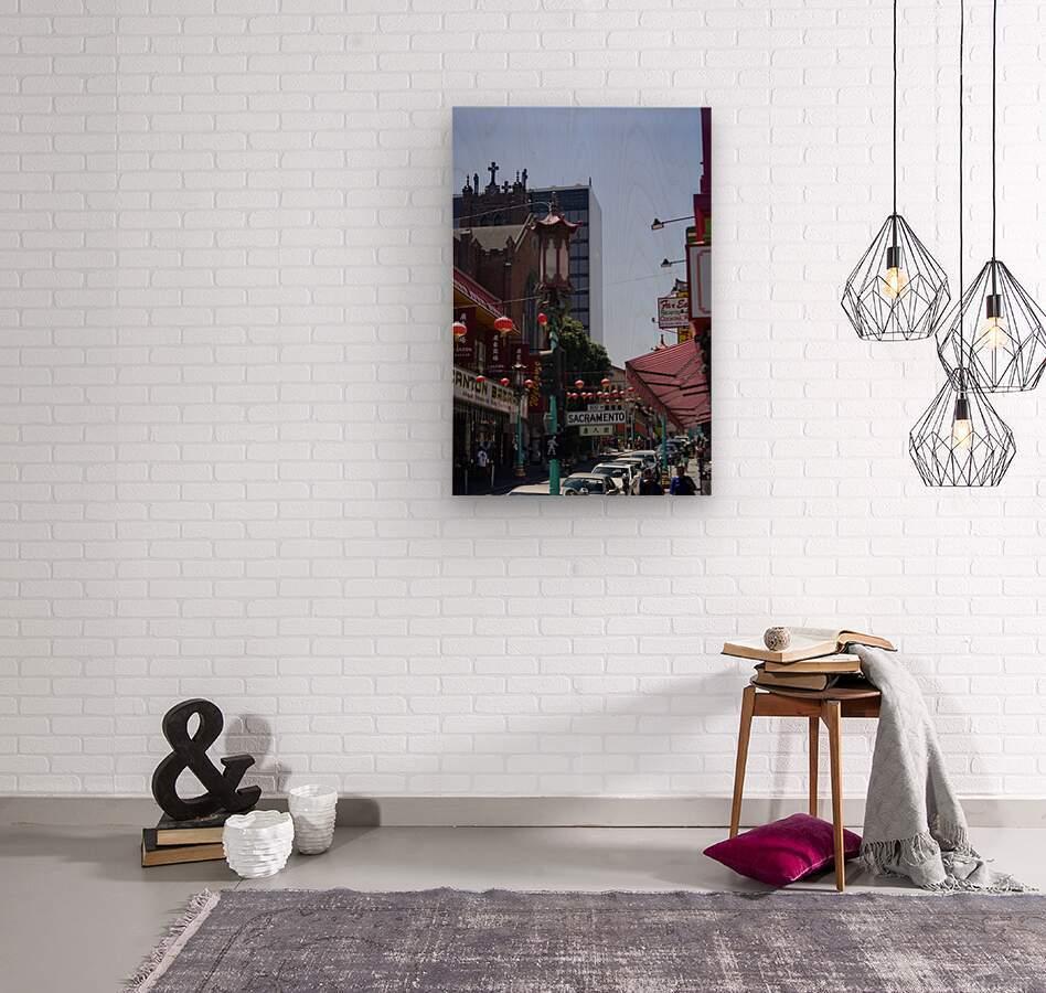 Snapshot in Time Chinatown 2 @ San Francisco  Wood print