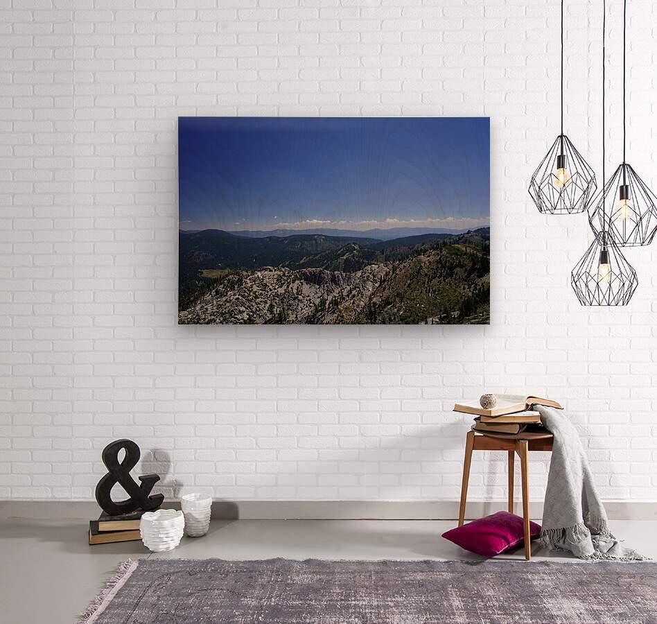 View from the Top Lake Tahoe California  Wood print