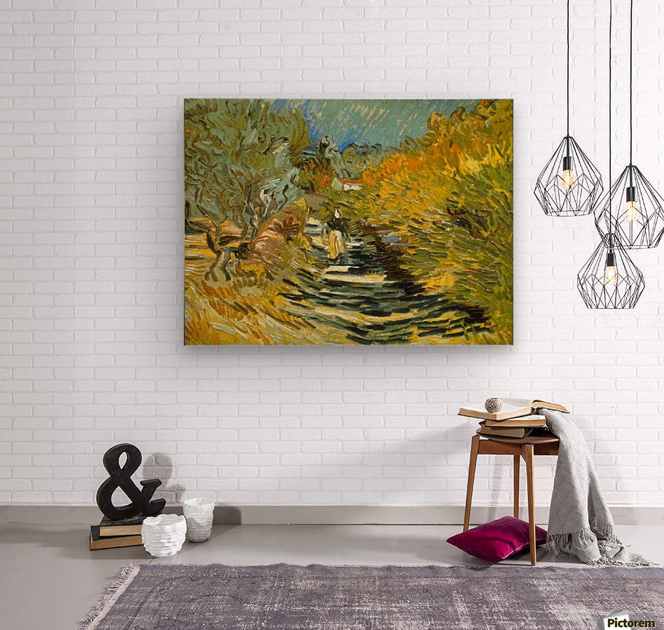 Saint-Remy by Van Gogh  Wood print