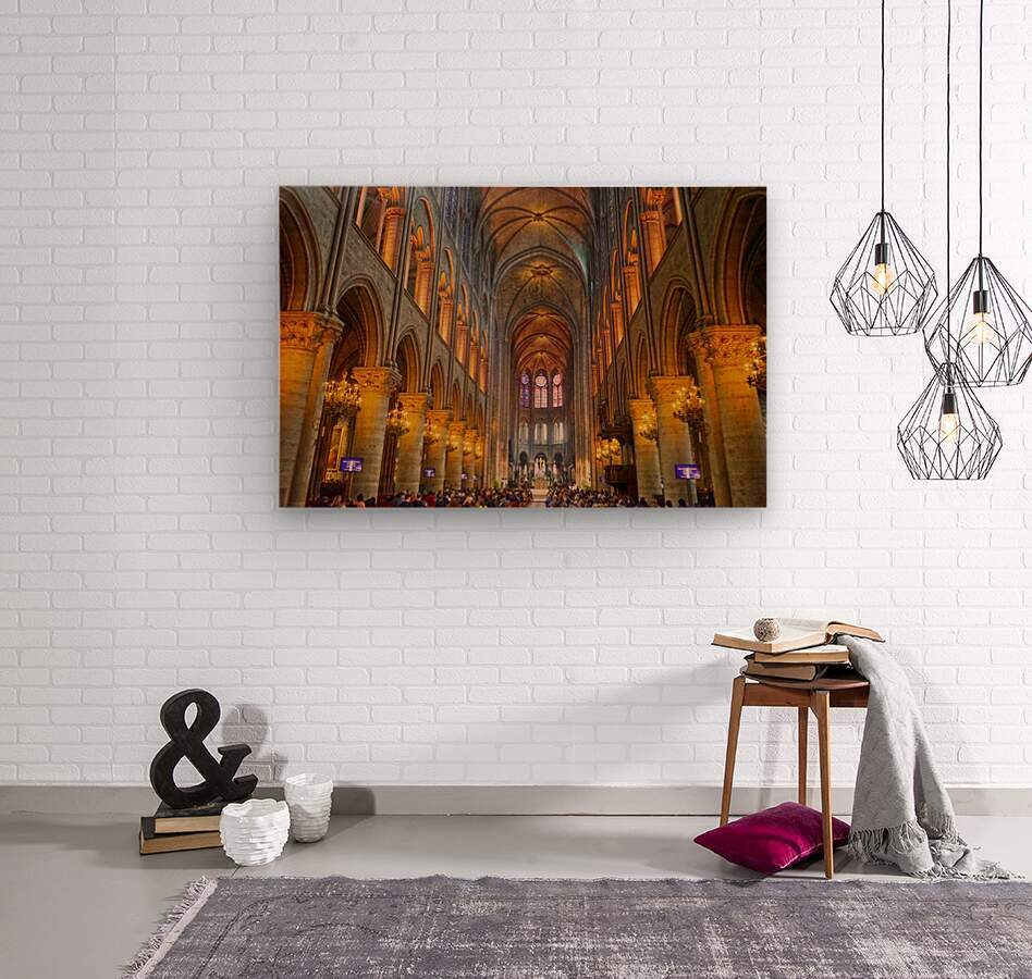 Saint Croix Cathedral France  Wood print