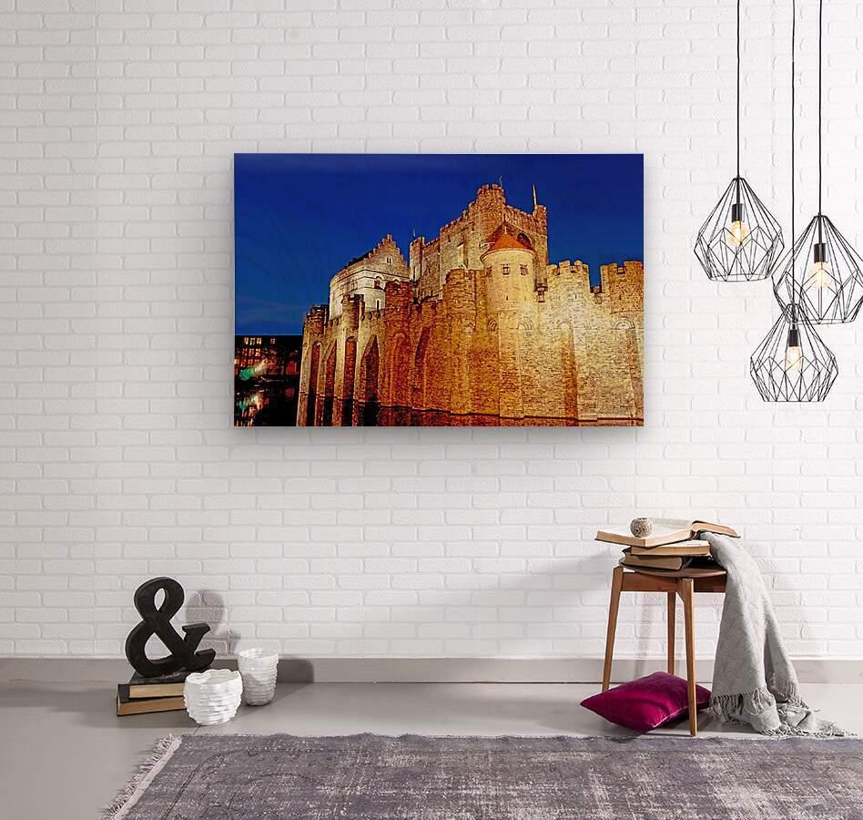 Castle of the Counts Belgium  Wood print