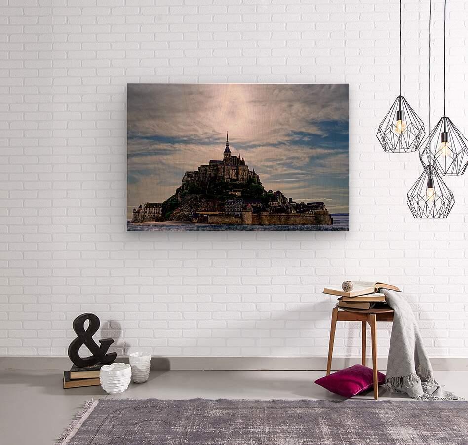 Mount Saint Michael The Fires of Heaven - Normandy France  Wood print