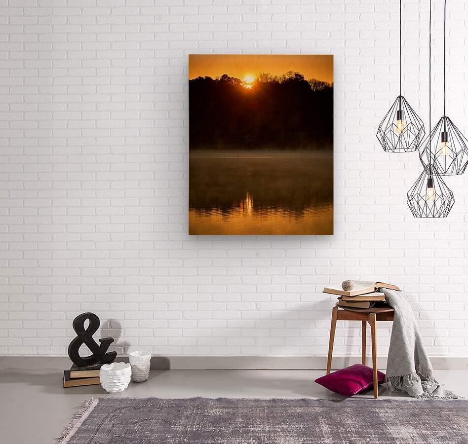 Sunrise at Langley Pond Park   Aiken SC 7R301617 12 19 20  Wood print