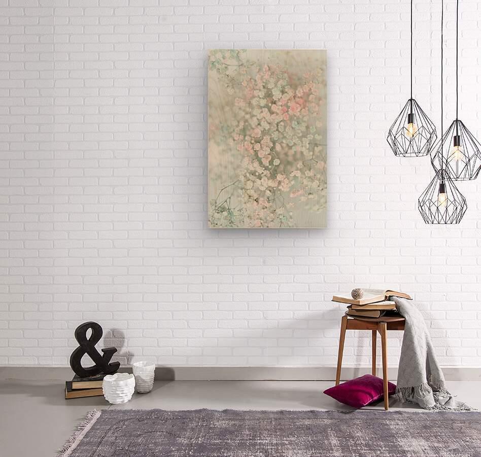 Daltana Pastel Floral Bina  Wood print