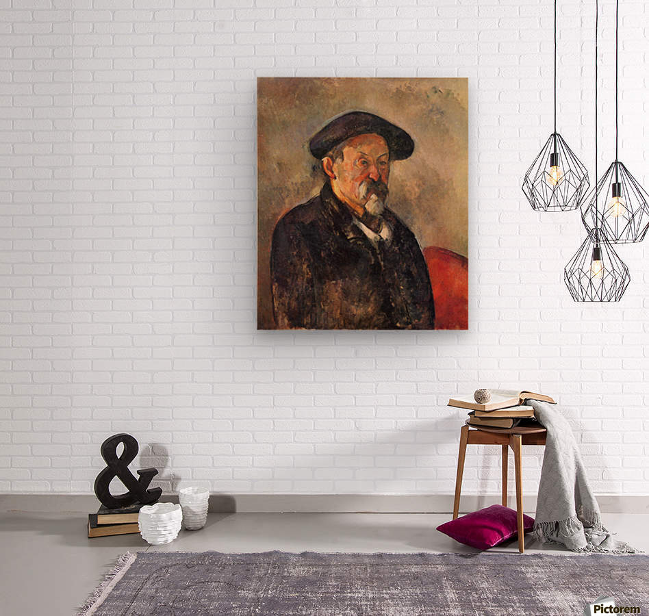 Self Portrait with Beret by Cezanne  Wood print