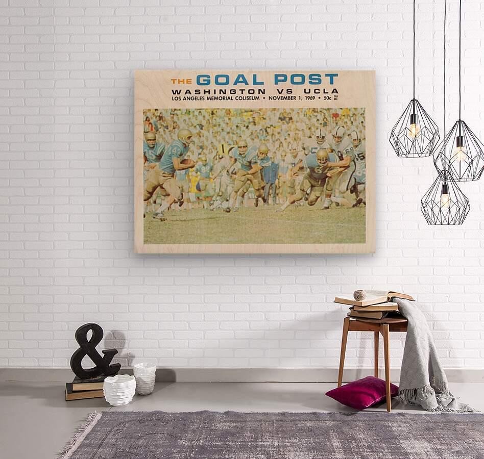 1969 UCLA vs. Washington Football Program Cover Art  Wood print