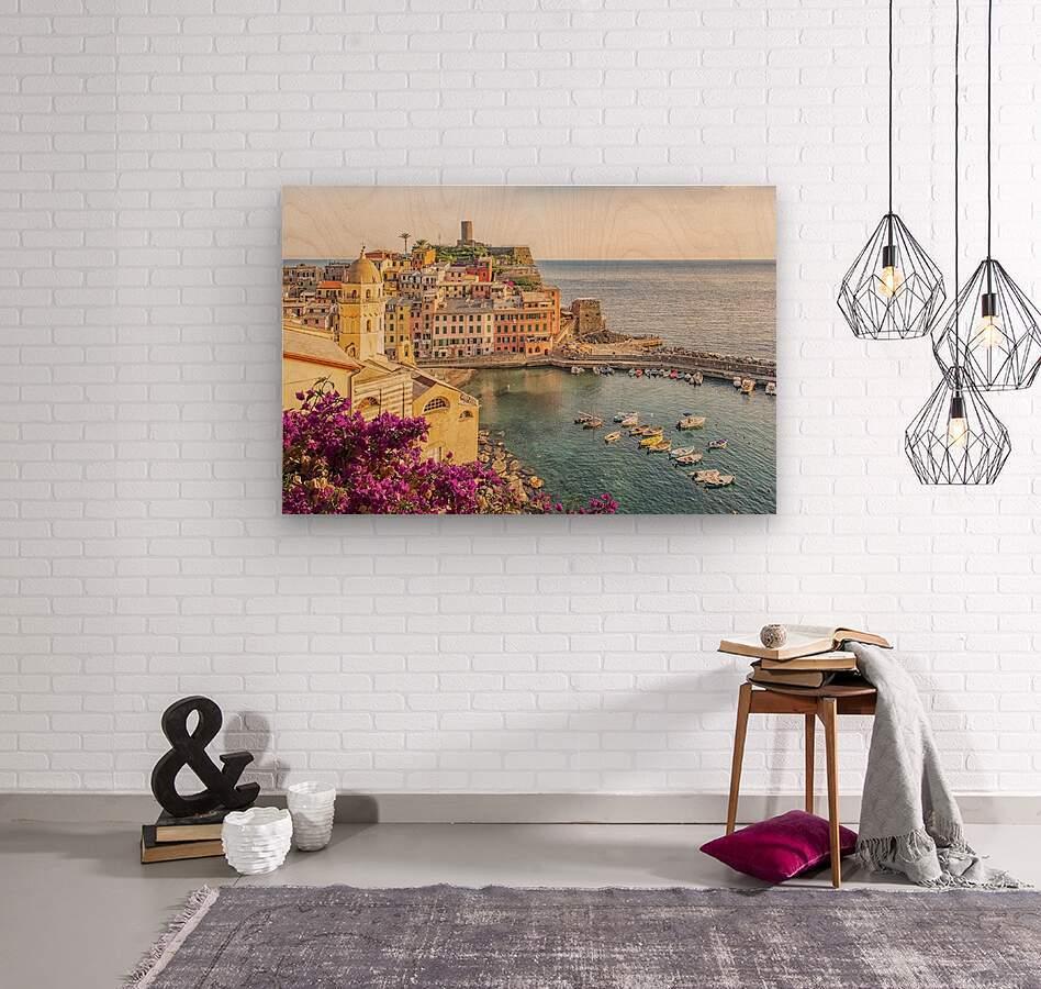 Vernazza  Wood print