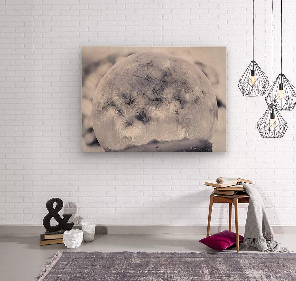 Givre  Wood print