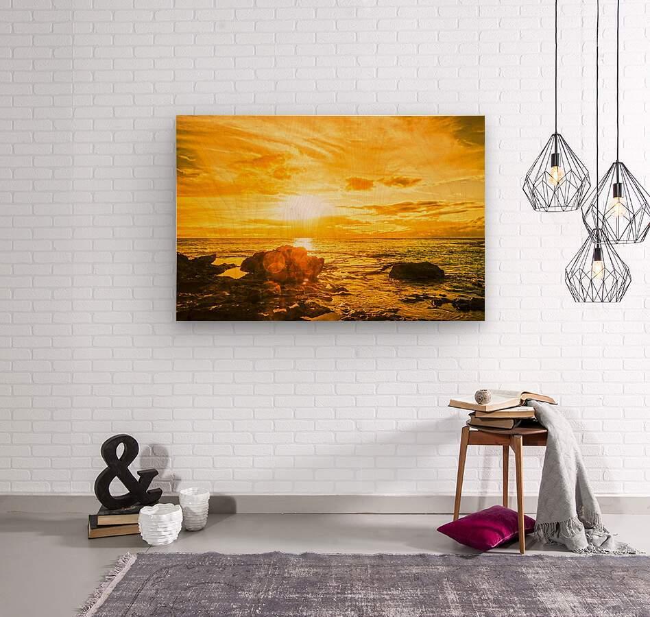 Majestic Sunset - Hawaiian Islands  Wood print