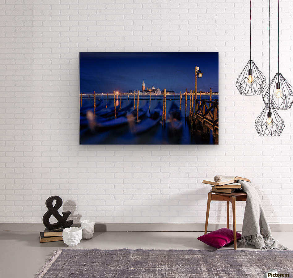 San Giorgio Maggiore Island, Venice by Photography by Karen  Wood print