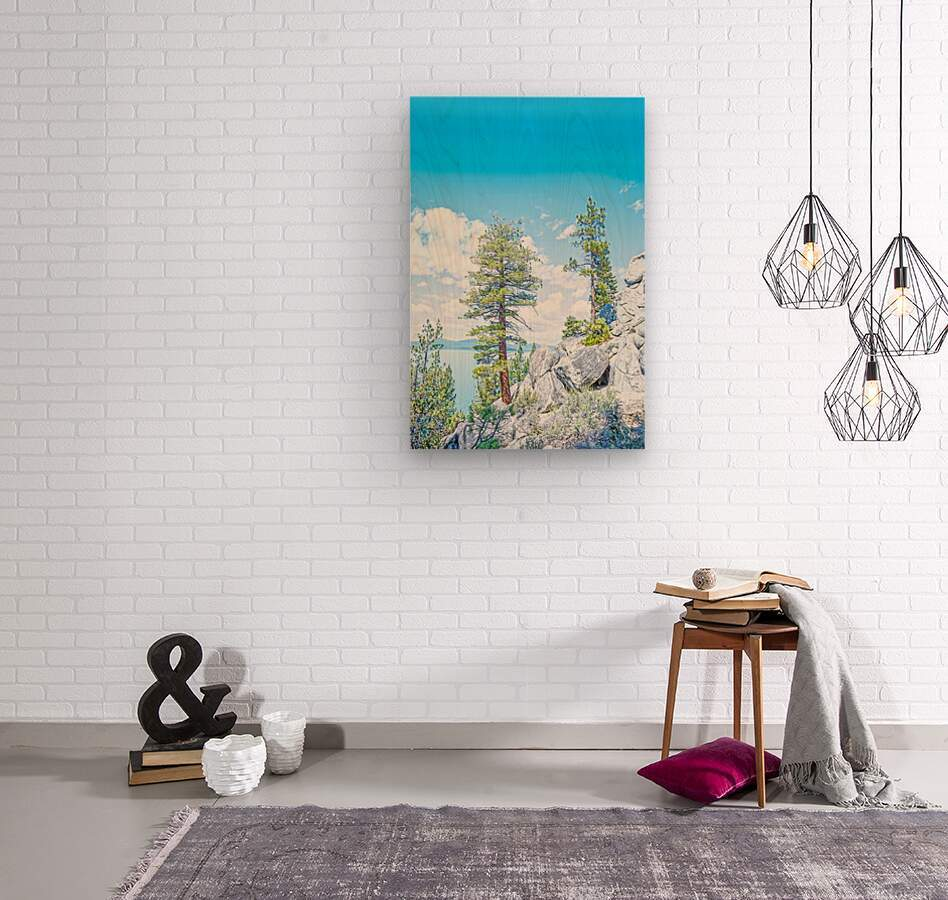 Top of the Mountain California   Wood print