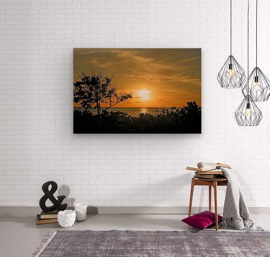 Delicate - Sunset Hawaiian Islands  Wood print