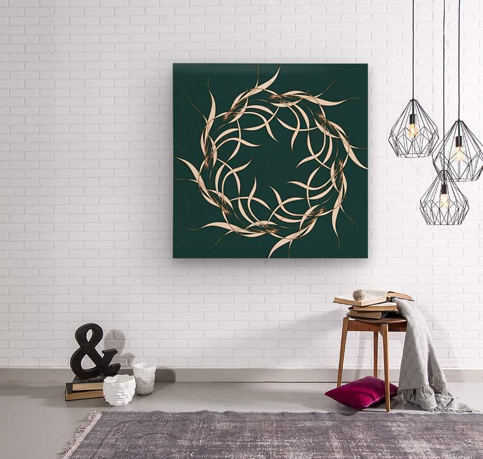 wintermandala  Wood print