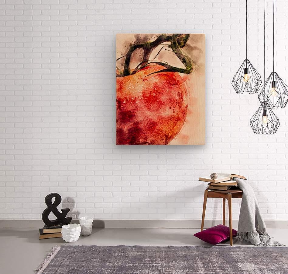 Tomato  Wood print