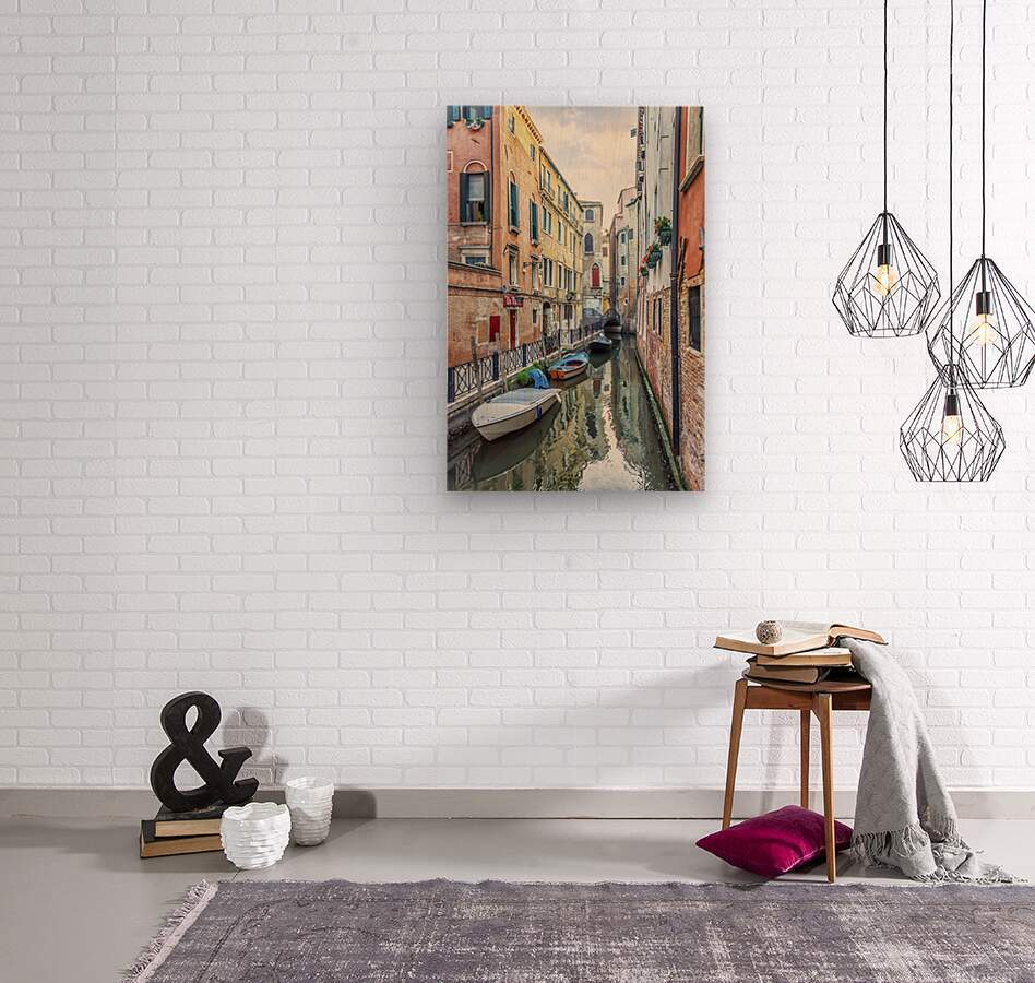 Quiet Venice  Wood print