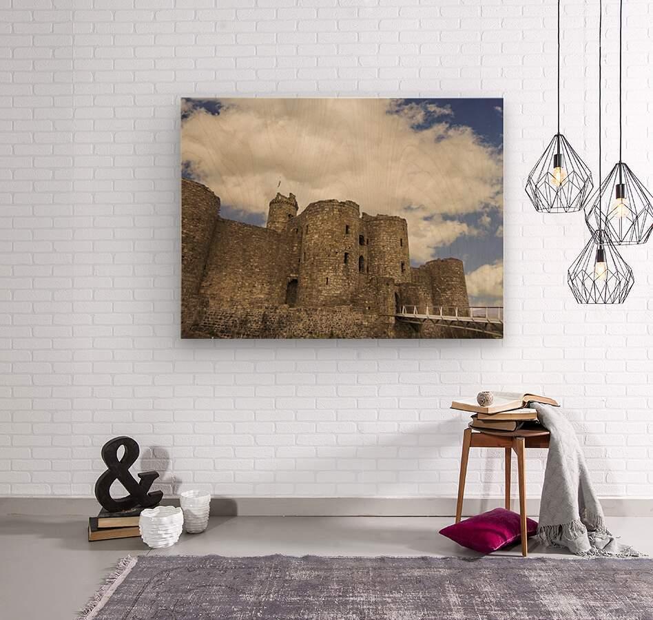 Aberystwyth Castle  Wood print