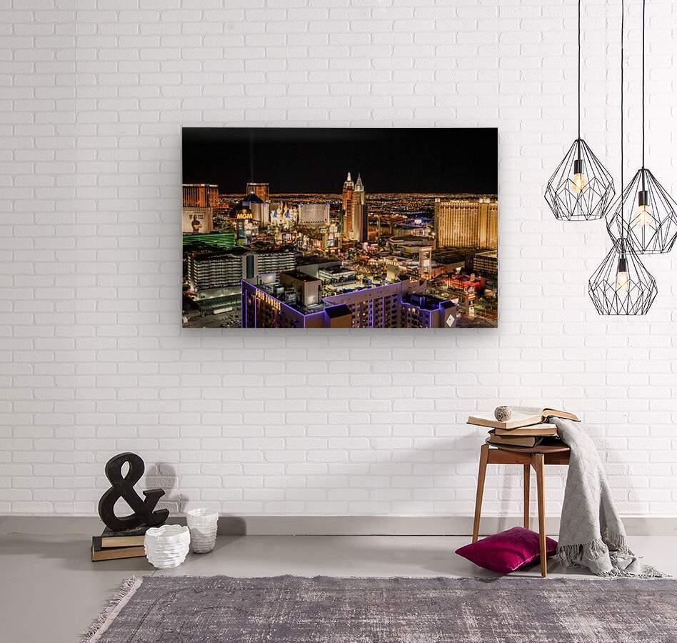 Las Vegas at Night  Wood print