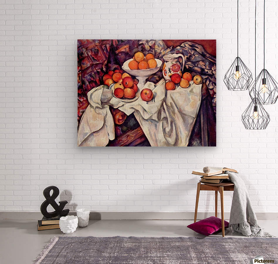 Still Life with Apples and Oranges by Cezanne  Wood print