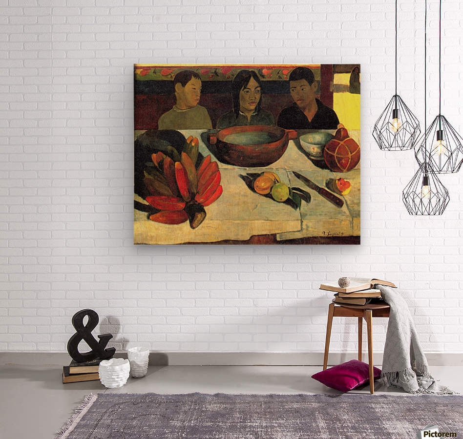 Still Life with Banana by Gauguin  Wood print