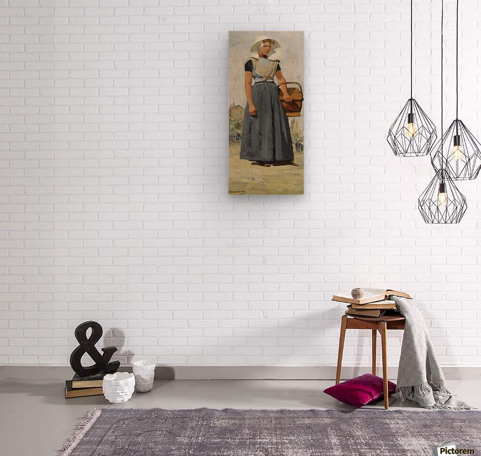 An Arnemuiden Fisherwoman  Wood print