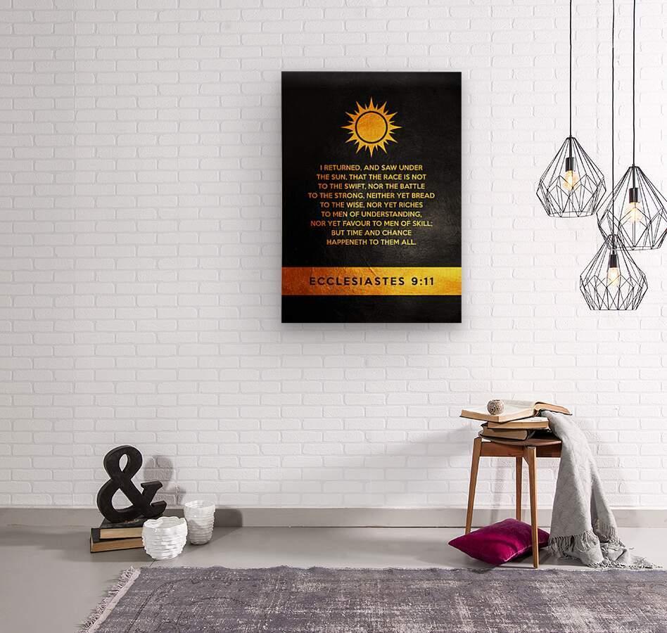 Ecclesiastes 9:11 Bible Verse Wall Art  Wood print