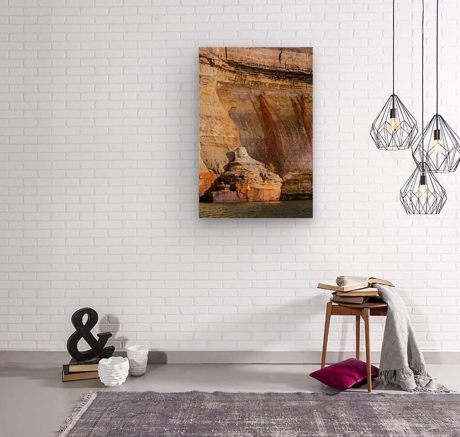 Pictured Rocks ap 2508  Wood print
