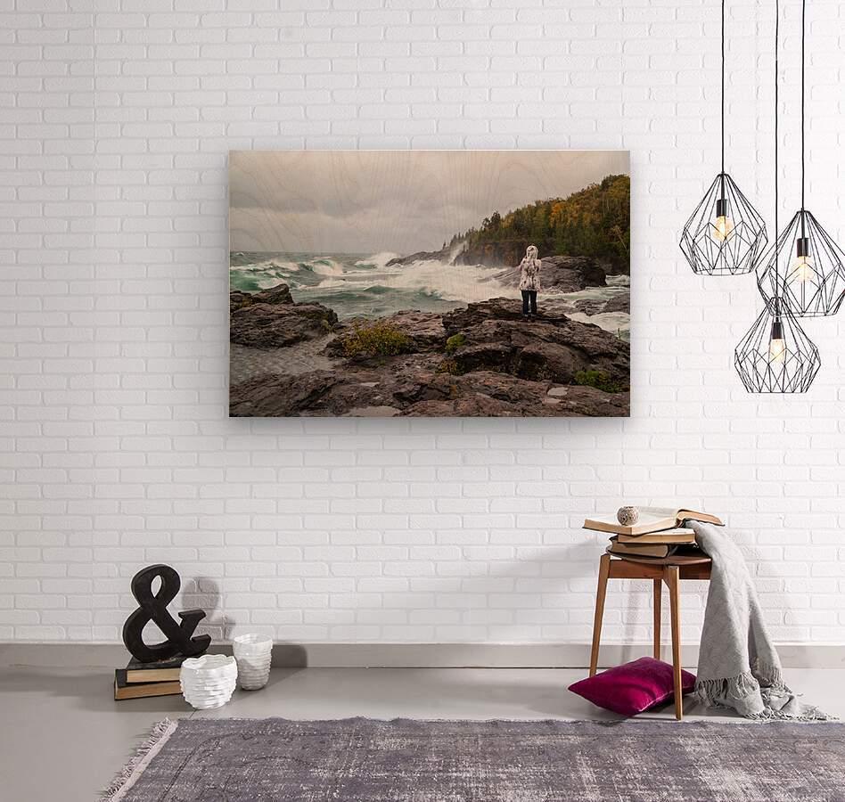 Crashing Waves ap 2605  Wood print