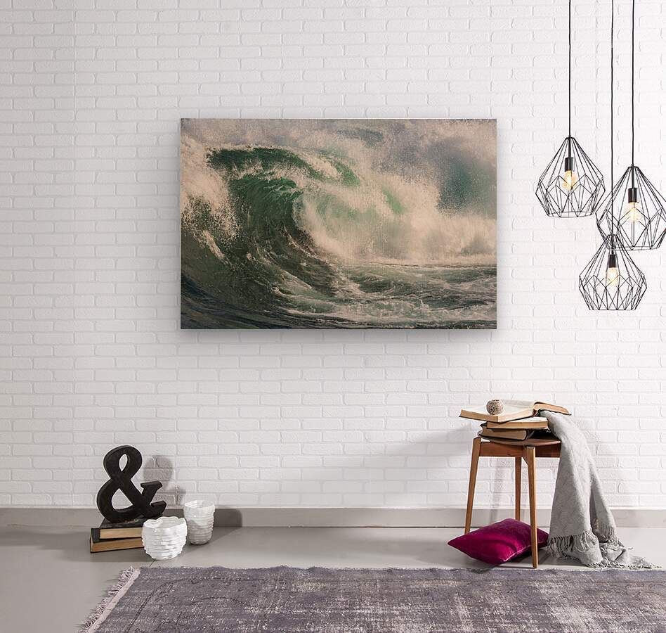Wave Curl ap 2672  Wood print