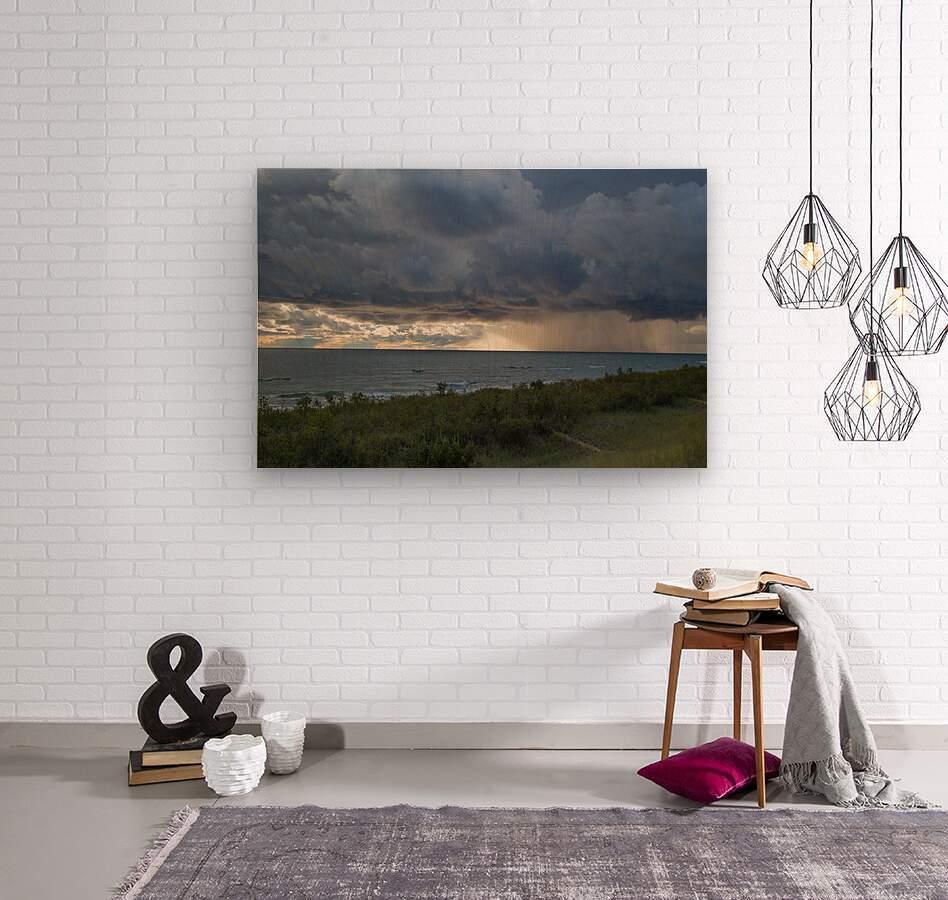 T Storm ap 2430  Wood print