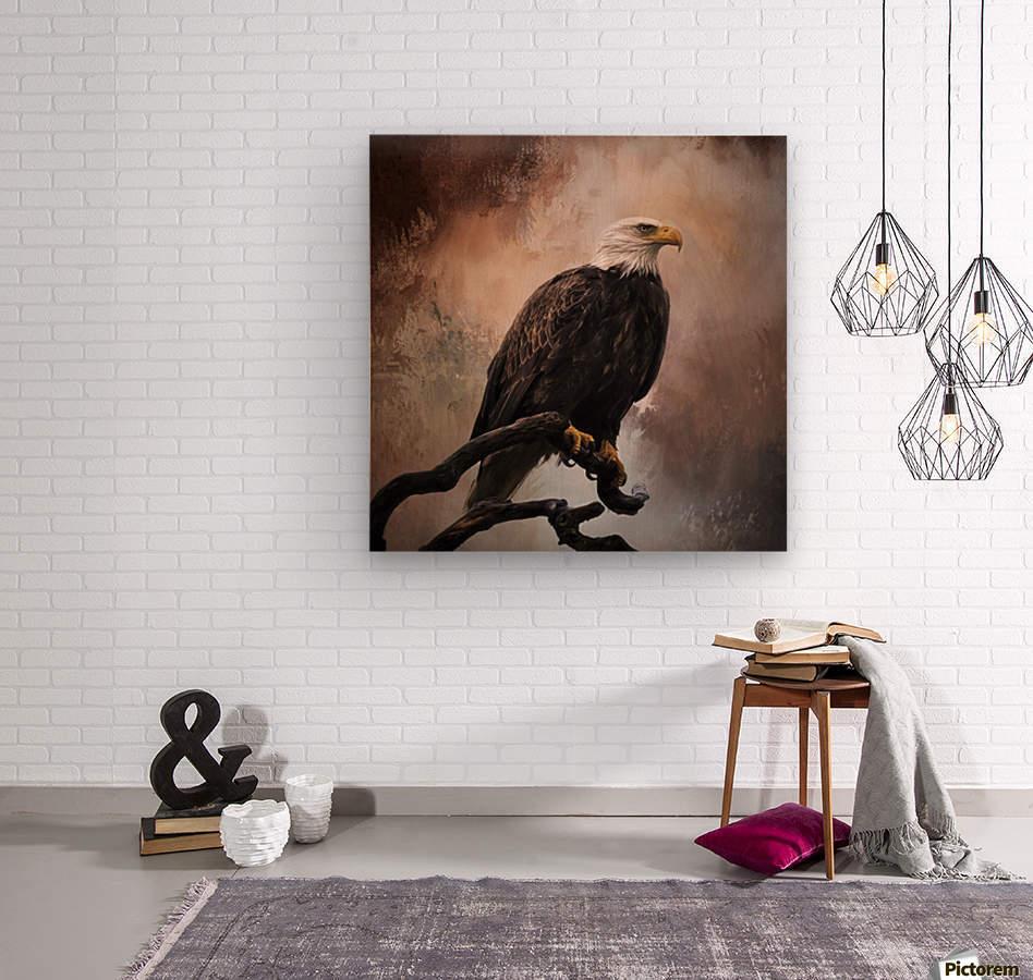 Looking Forward - Eagle Art by Jordan Blackstone  Wood print