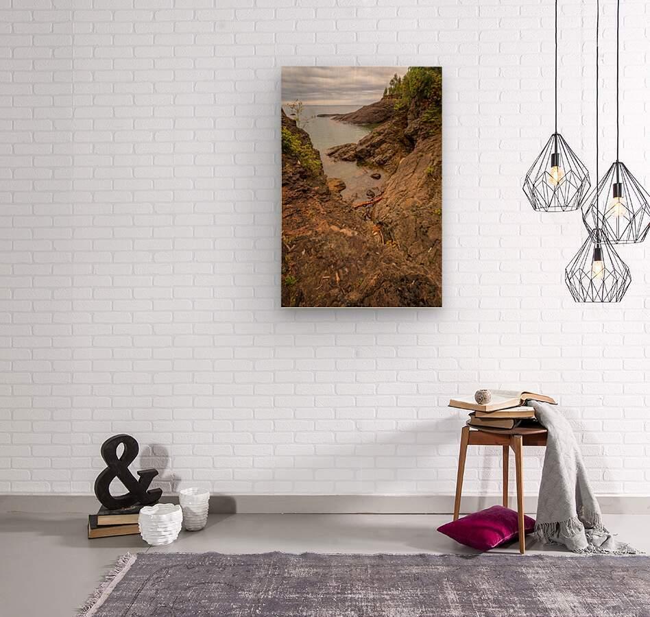 Lake Superior ap 2550  Wood print