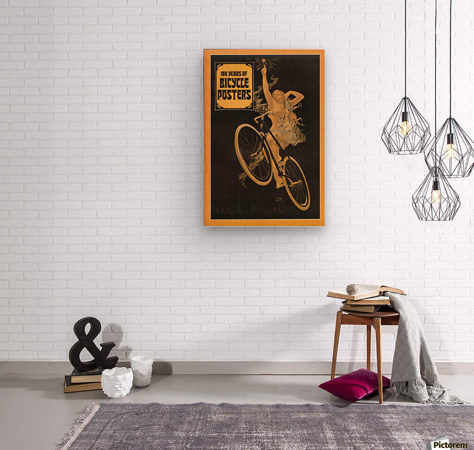 100 years of bicycle posters  Wood print