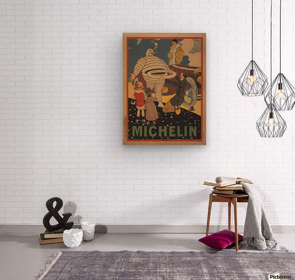 Michelin Pneu  Impression sur bois