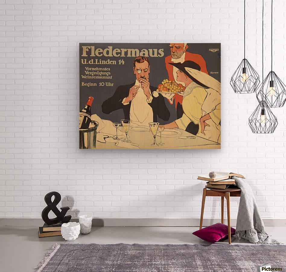 Fledermaus  Wood print
